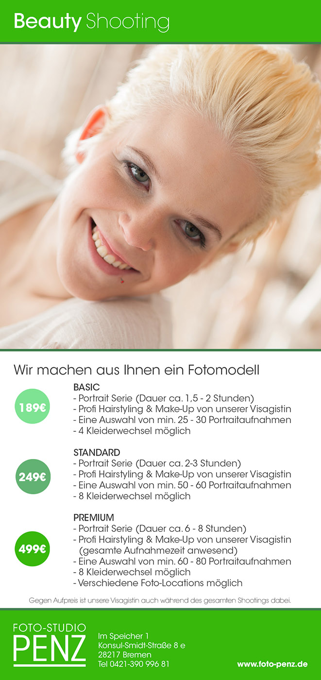 Beautyportraitpreisliste